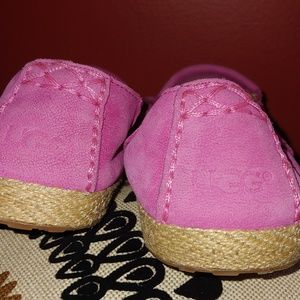 Cotton Candy Pink Suede and leather Ugg Moccasins